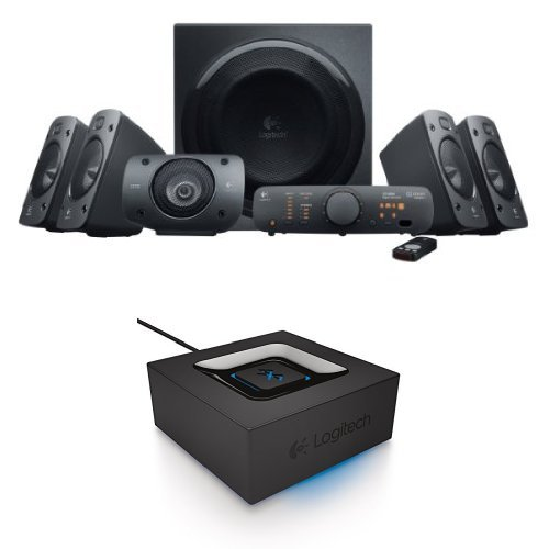 Logitech Z906 Surround Sound Speaker System Bundle