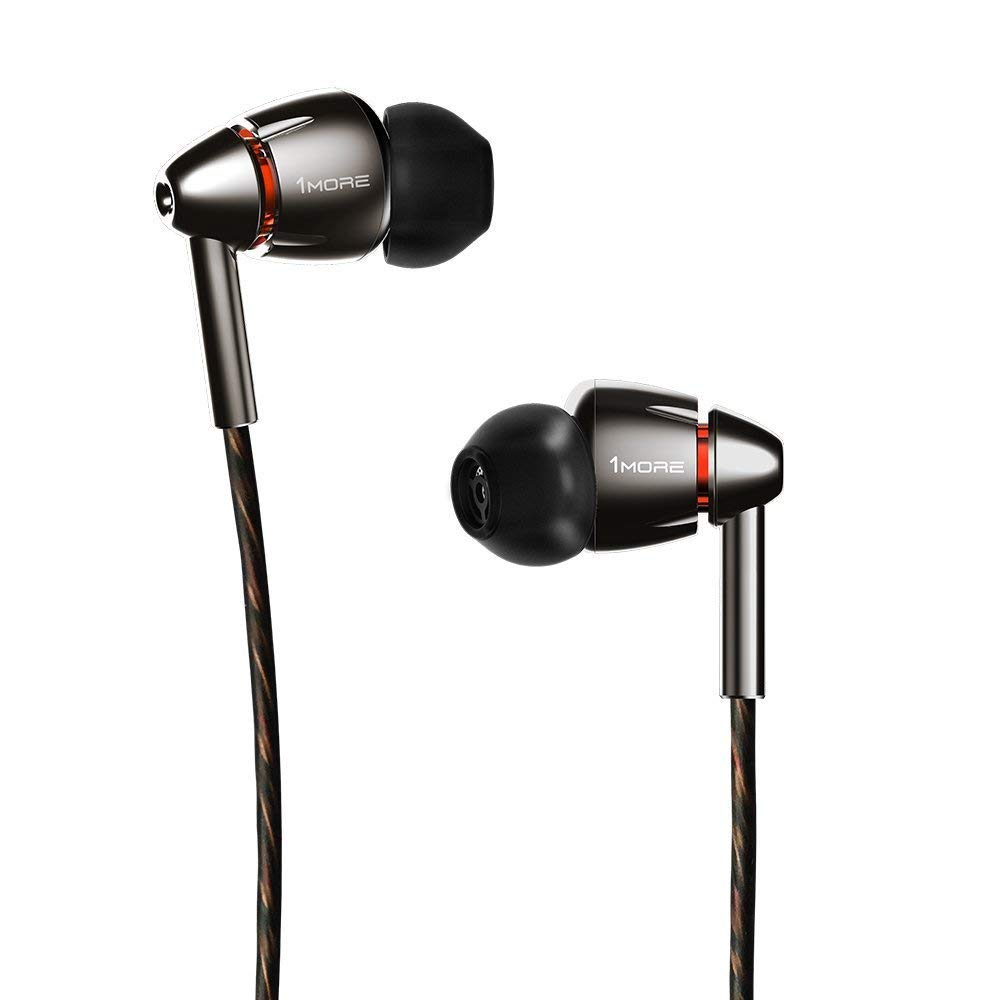 1MORE Quad Driver In-Ear Headphones (Earphones/Earbuds) with Apple iOS and Android Compatible Microphone and Remote (Black)