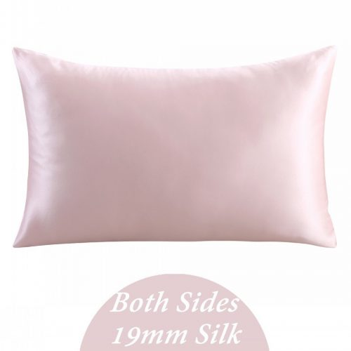 ZIMASILK 100% Mulberry Silk Pillowcase for Hair and Skin, with Hidden Zipper, Both Side 19 Momme Silk, 1pc (Queen 20