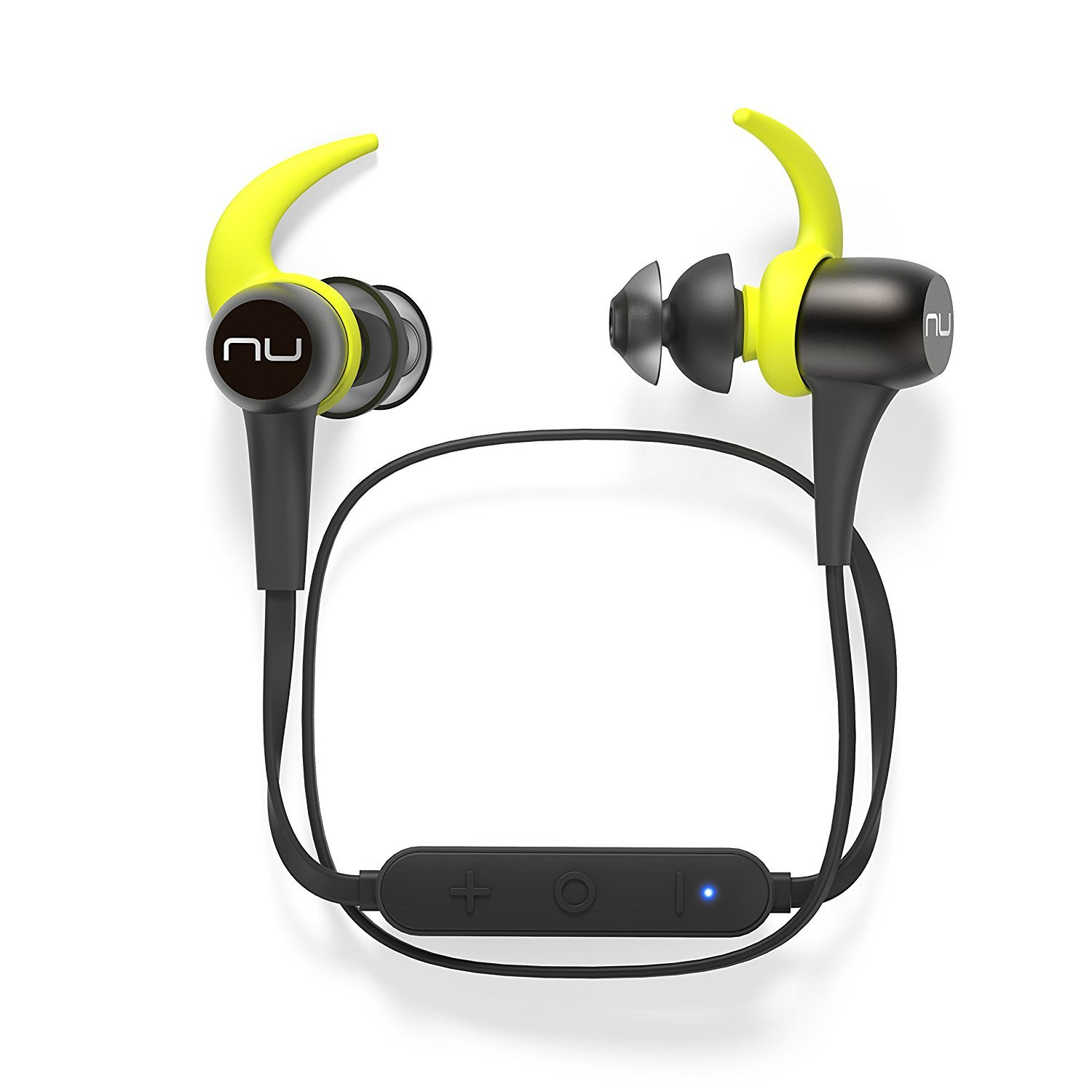 NuForce BE Sport3 Wireless Bluetooth in-Ear Headphones for Sports with aptX, AAC and 10h Battery Life, Water- and Sweat Resistant Earbud, Gunmetal