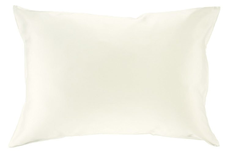 Celestial Silk 100% Silk Pillowcase for Hair Luxury 25 Momme Mulberry Silk, Charmeuse Silk on Both Sides -Gift Wrapped- (Queen, Natural Undyed White)