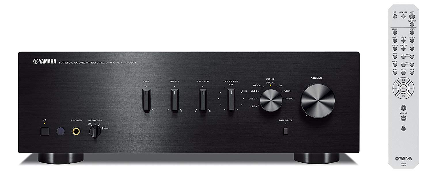 Yamaha A-S501BL Natural Sound Integrated Stereo Amplifier (Black)