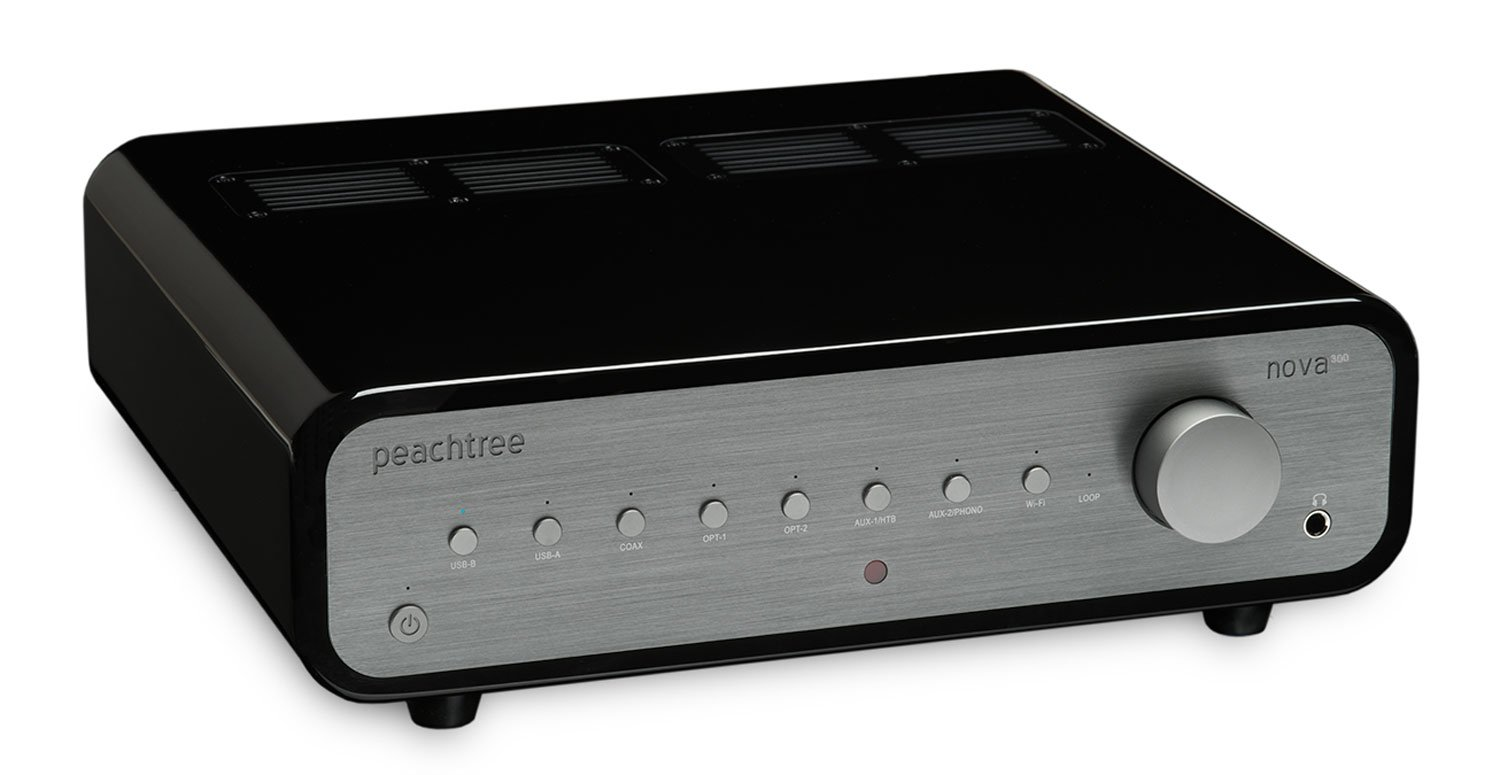 Peachtree Audio nova300 Integrated Amplifier with DAC (Piano Black)