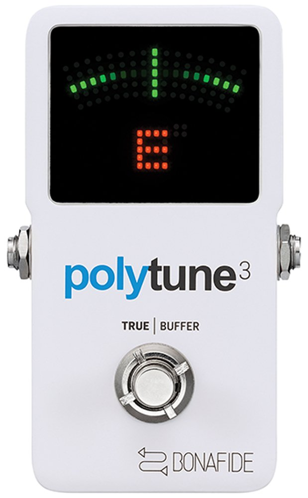 TC Electronic PolyTune 3 Polyphonic LED Guitar Tuner Pedal w/Buffer