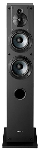 Sony SSCS3 3-Way 4-Driver Floor-Standing Speaker System, Black (Single)