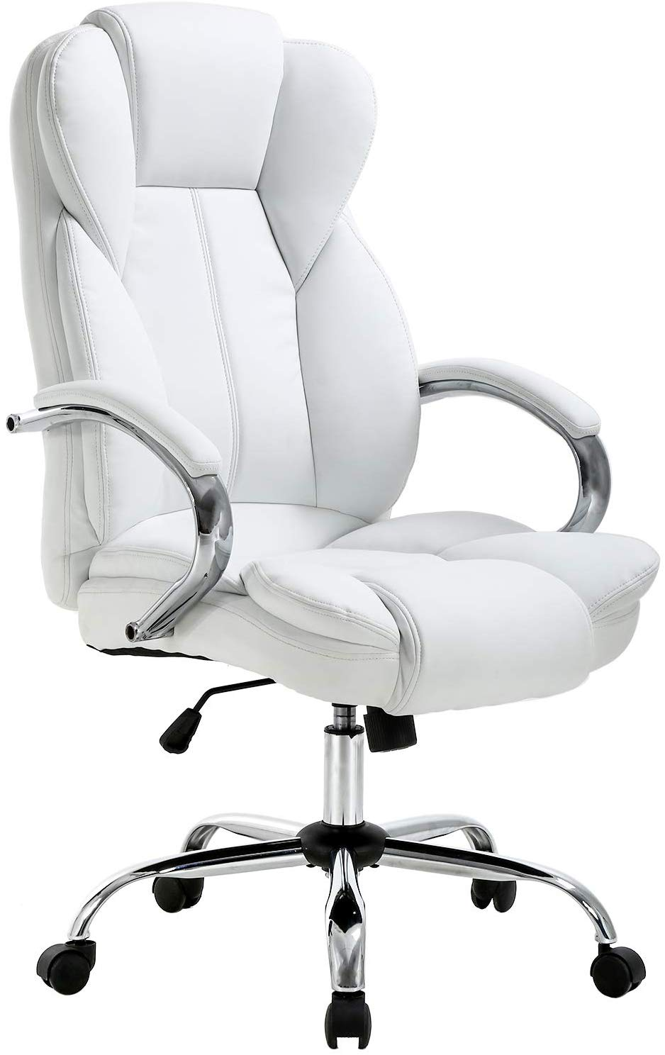 Ergonomic PU Leather Executive Office Chair Desk Task Computer Chair