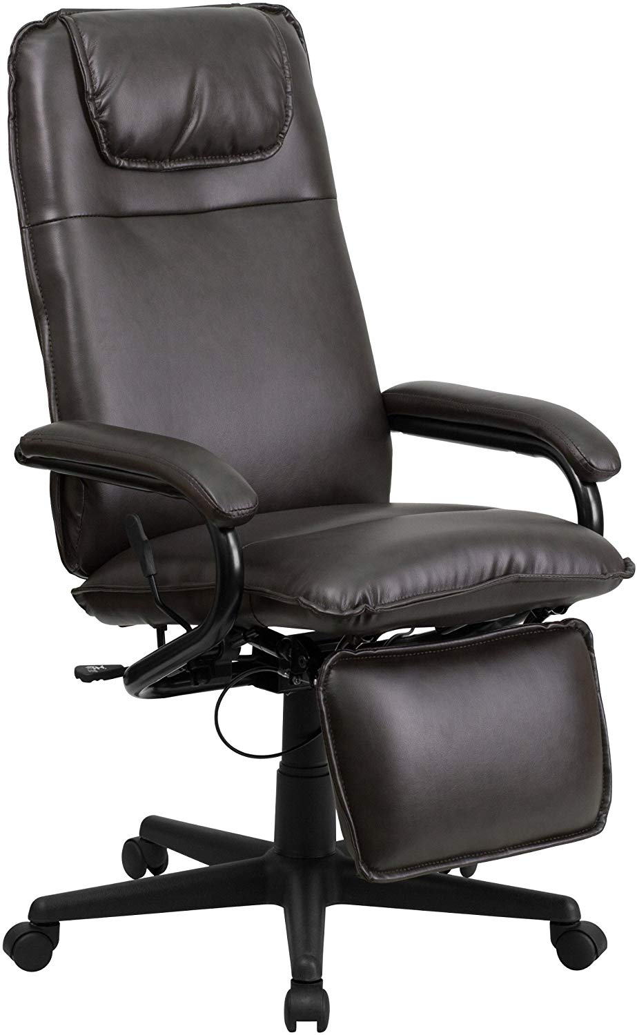 Flash Furniture High Executive Reclining Ergonomic Swivel Office Chair with Arms