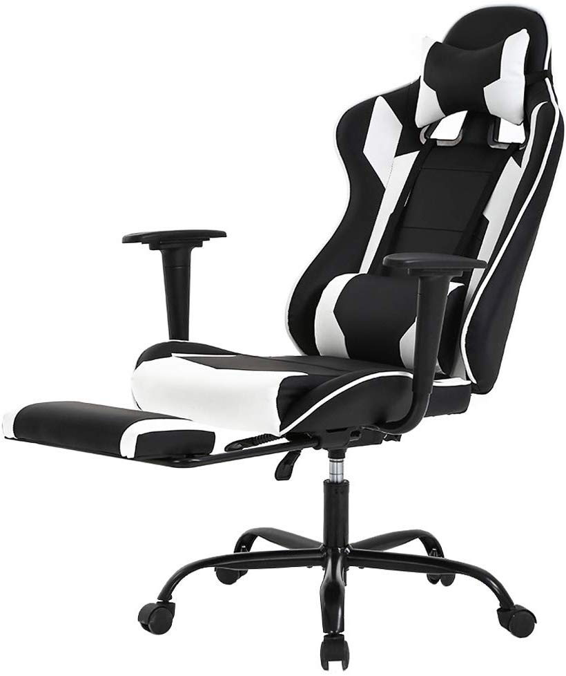 Racing Gaming Chair, High-Back PU Leather Home Office Chai