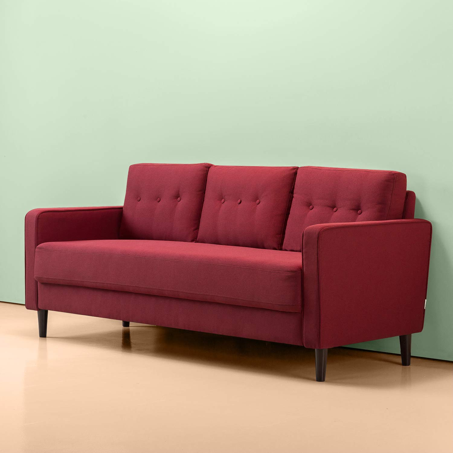 Zinus Mid-Century Upholstered 76in Sofa