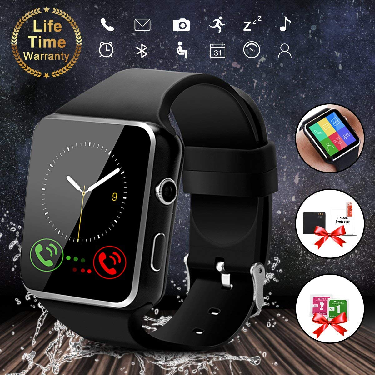 Bluetooth Smartwatch Touch Screen - Waterproof Smartwatch