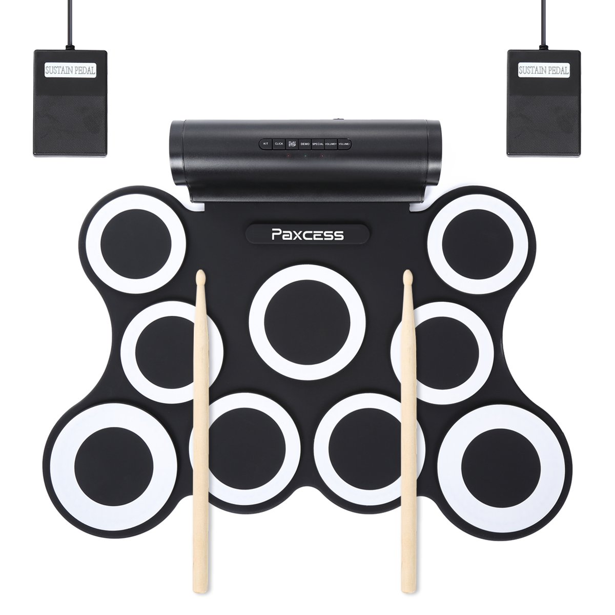 9 Pads Electric Drum Set
