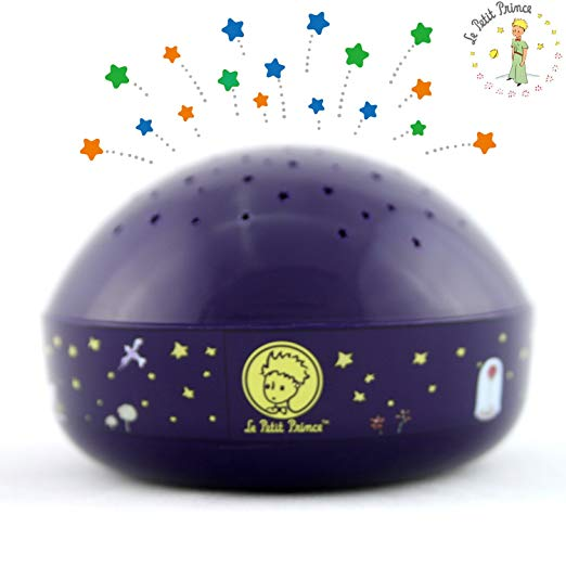 """Touch Active, Easy Clean"" Twilight Constellation Galaxy Round Projector Night Light"