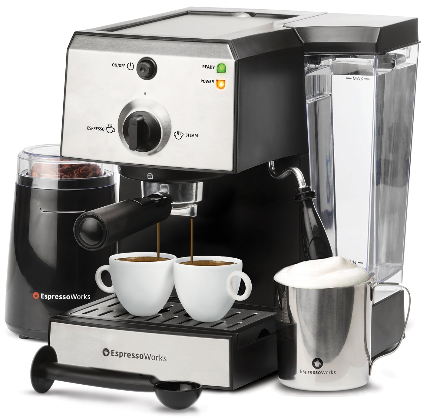 7 Pc All-In-One Espresso Machine & Cappuccino Maker