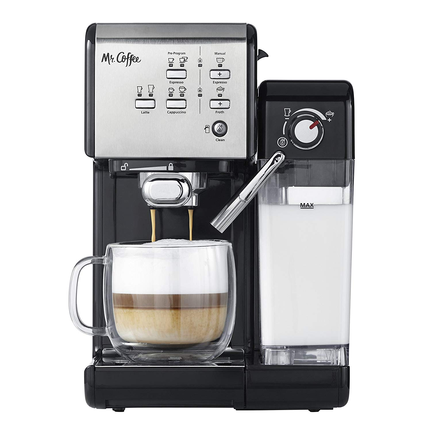 Mr. Coffee One-Touch Espresso Maker and Cappuccino Machine