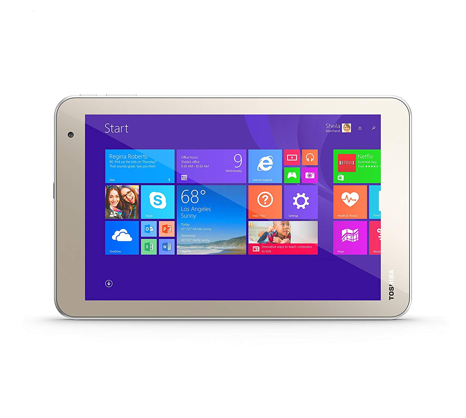 Toshiba Encore Tablet gold