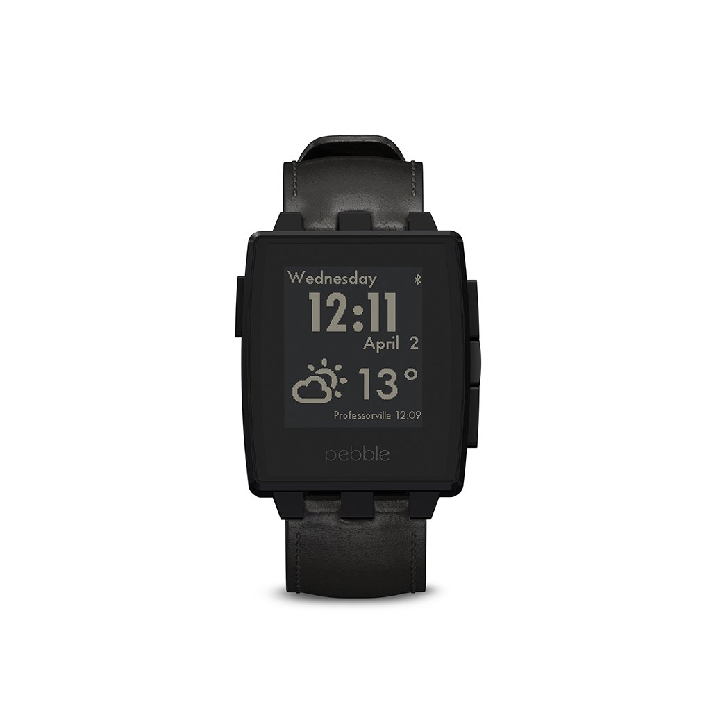 Pebble Steel Smartwatch Black Matte - Waterproof Smartwatch