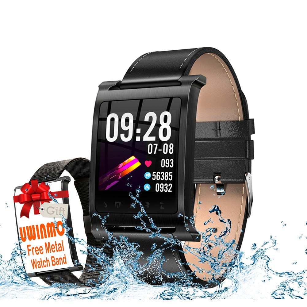 UWINMO Smart Watch, Waterproof Steel Activity