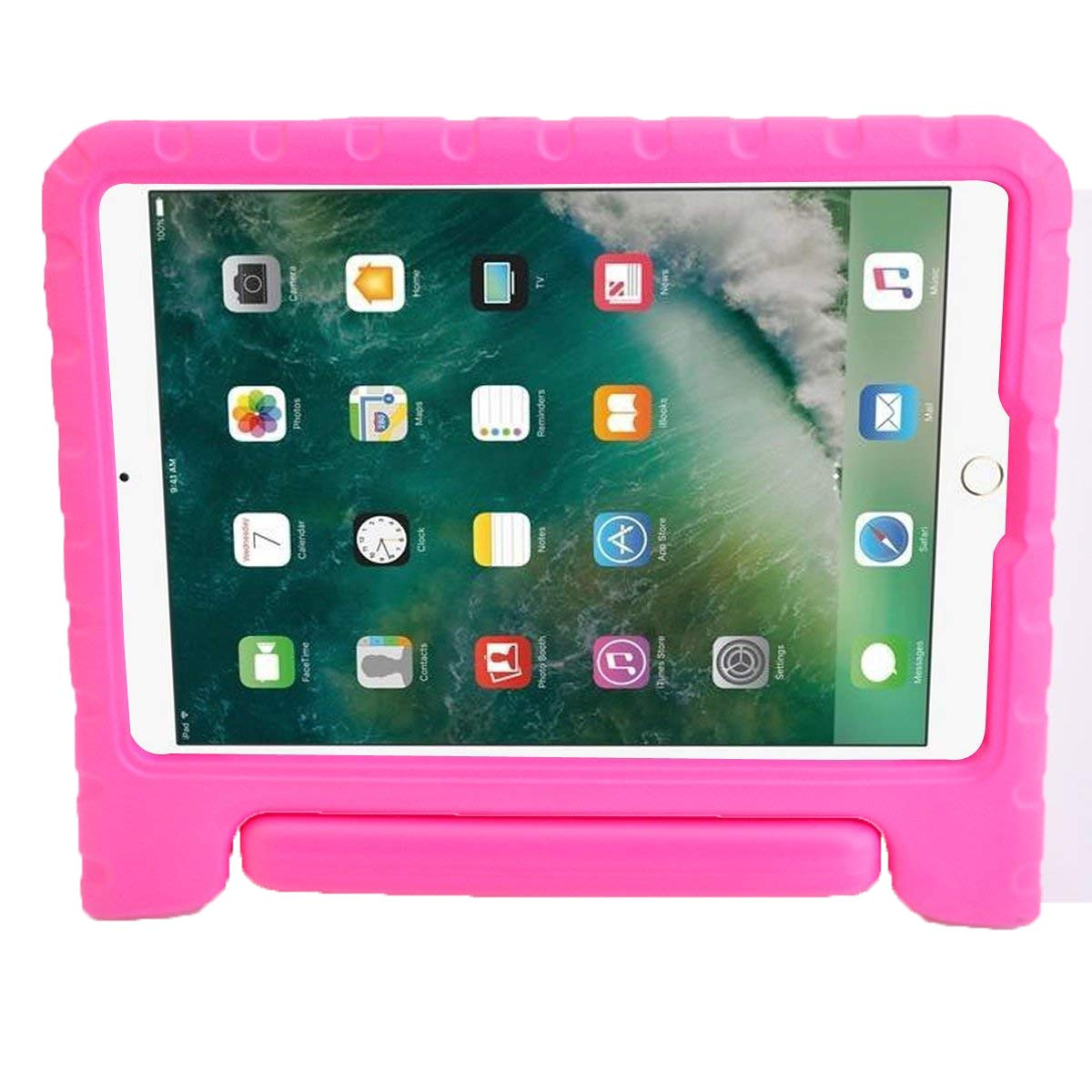 BMOUO Case for New iPad 9.7 Inch 2018/2017 - Shockproof Case Light Weight Kids Case Cover Handle Stand Case for iPad 9.7 Inch 2019/2018 New Model – Rose