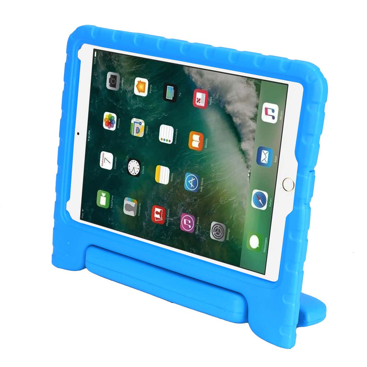AVAWO Kids Case for New iPad 9.7 2017 & 2018 Release - Light Weight Shock Proof Convertible Handle Stand Friendly Kids Case for iPad 9.7-inch 2017 & 2018 Latest Gen (iPad 5th & 6th Gen) – Blue