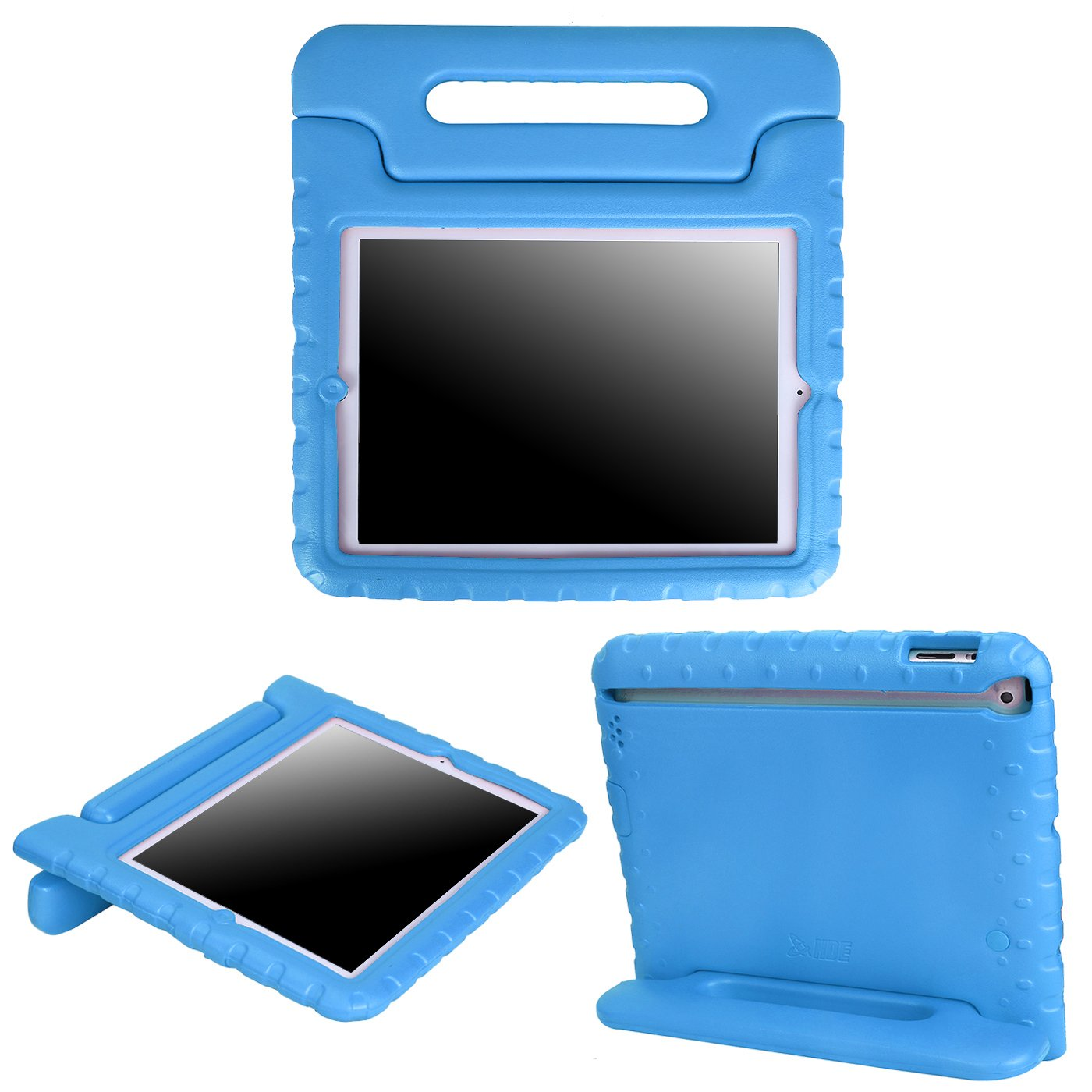 HDE Case for iPad 2 3 4 - Kids Shock Proof Heavy Duty Impact Resistant Protective Cover Handle Stand for Apple iPad 2nd 3rd 4th Generation Tablet (Blue)