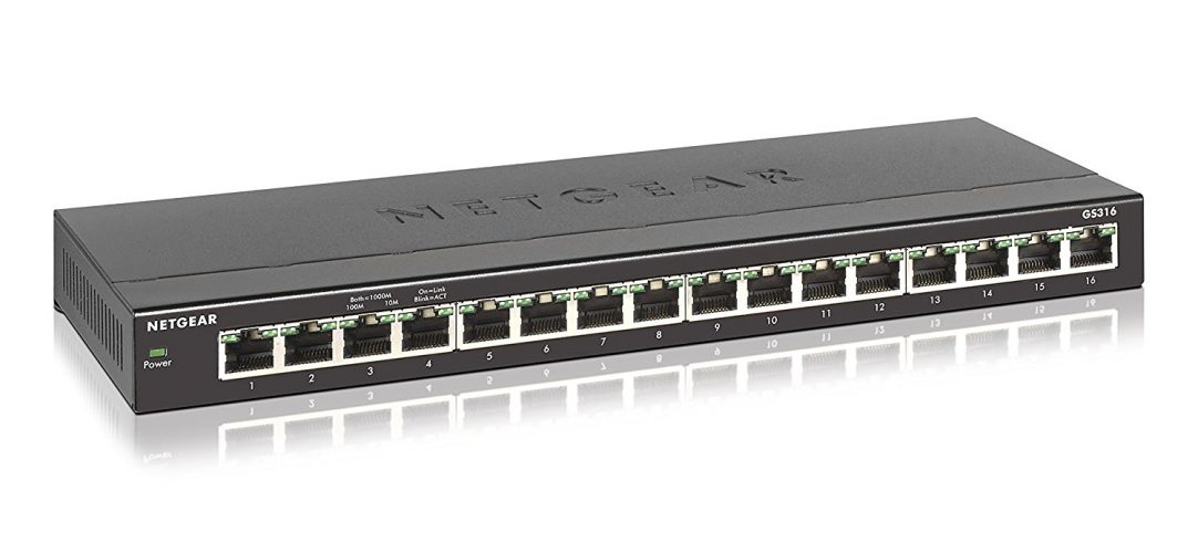 NETGEAR - SOHO 16-Port Gigabit Ethernet Switch