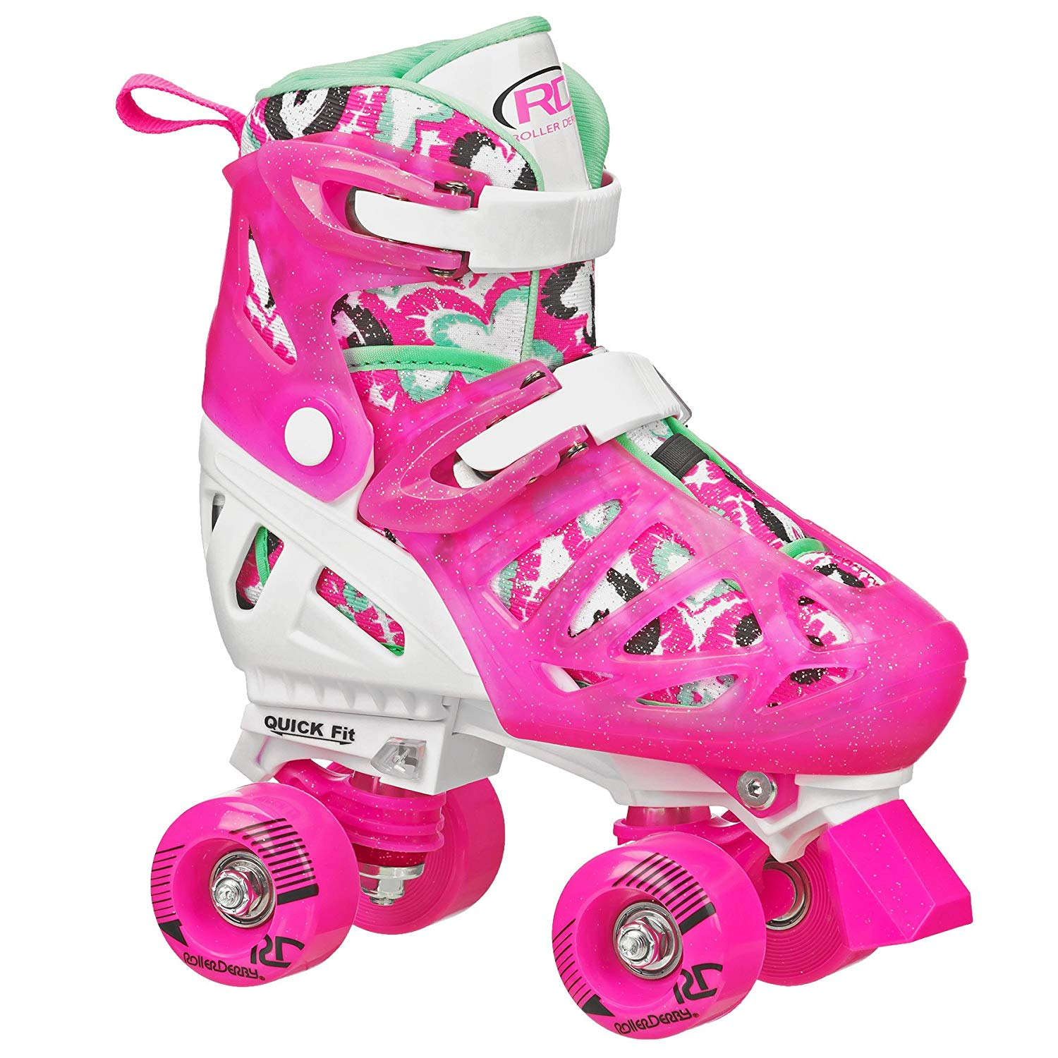 Roller Derby Girl's Trac Star Adjustable Roller Skate | Adjustable Roller Skate Shoes for kids