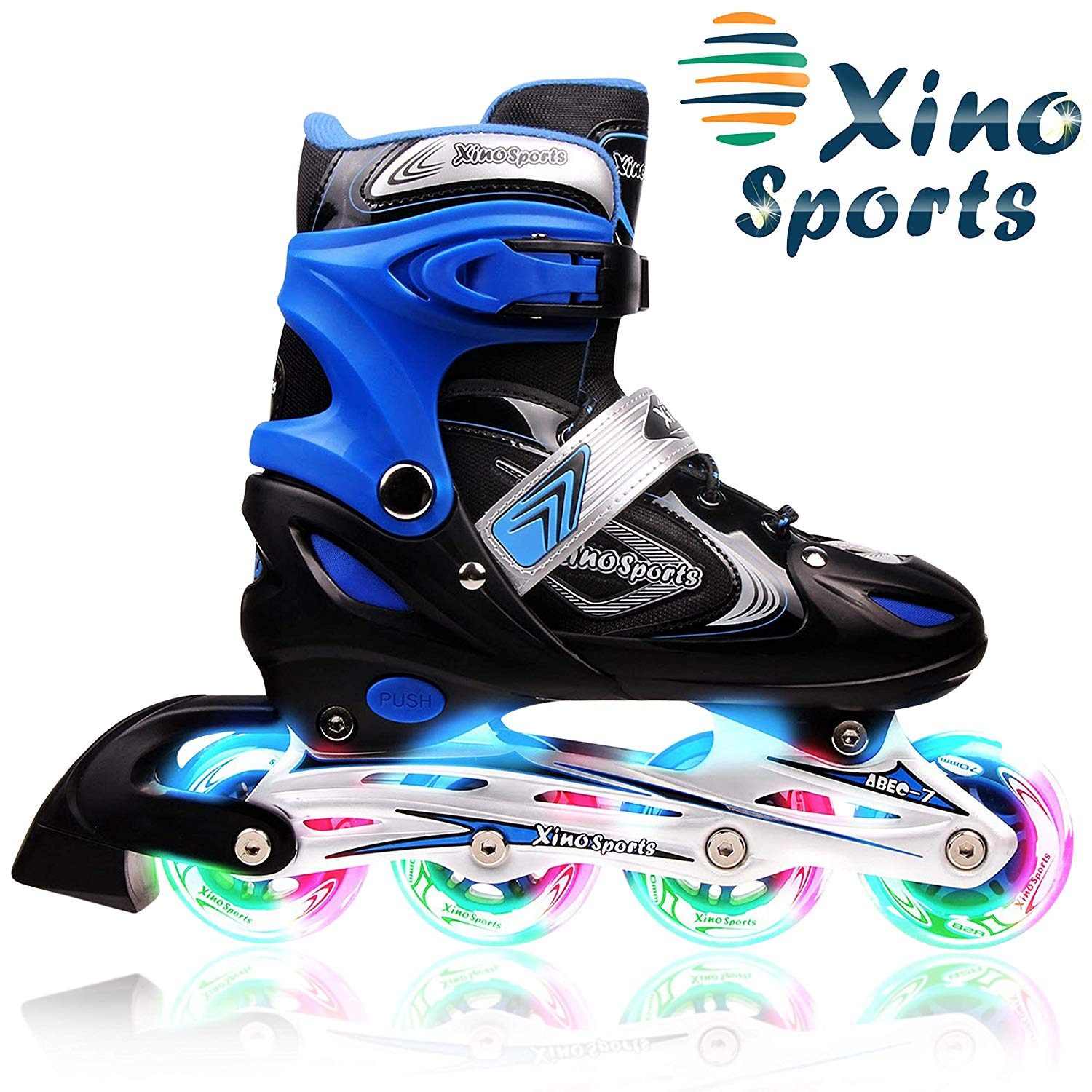 XinoSports Inline Roller Skates With Light | Adjustable Roller Skate Shoes for kids