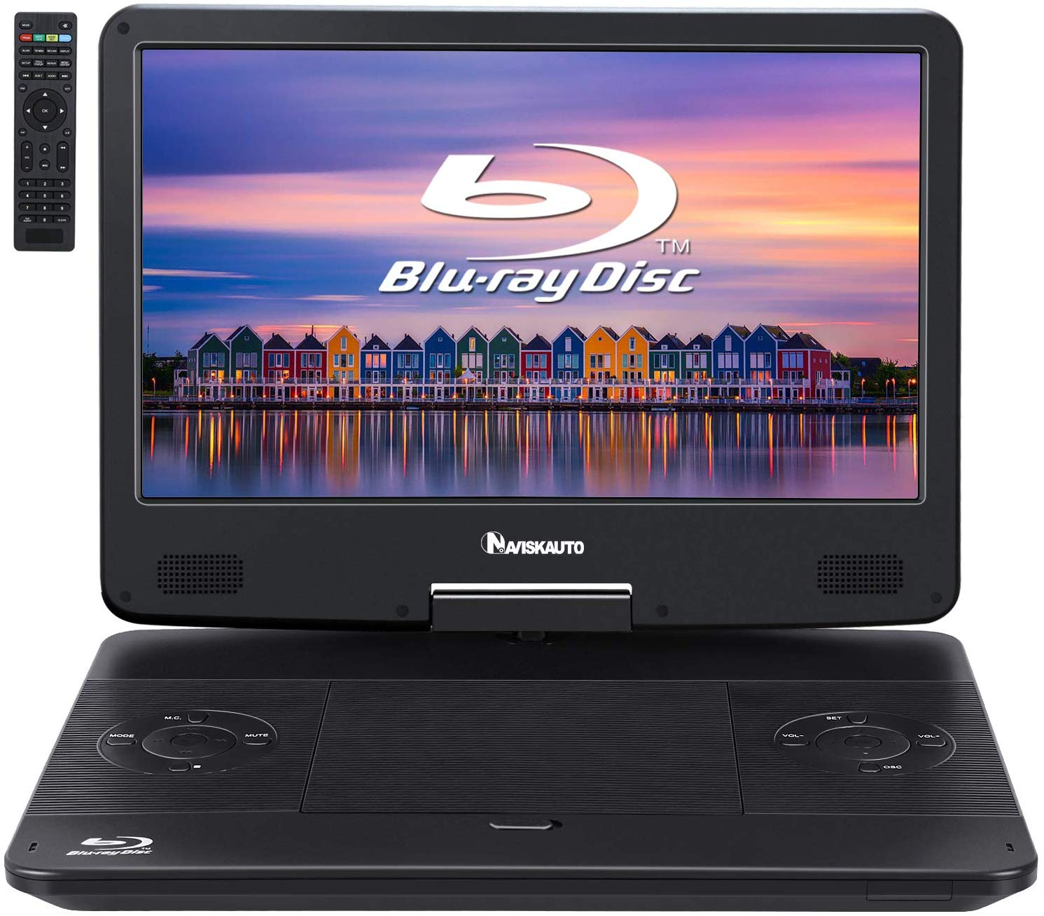 "NAVISKAUTO 14"" Portable Blu-Ray DVD Player"