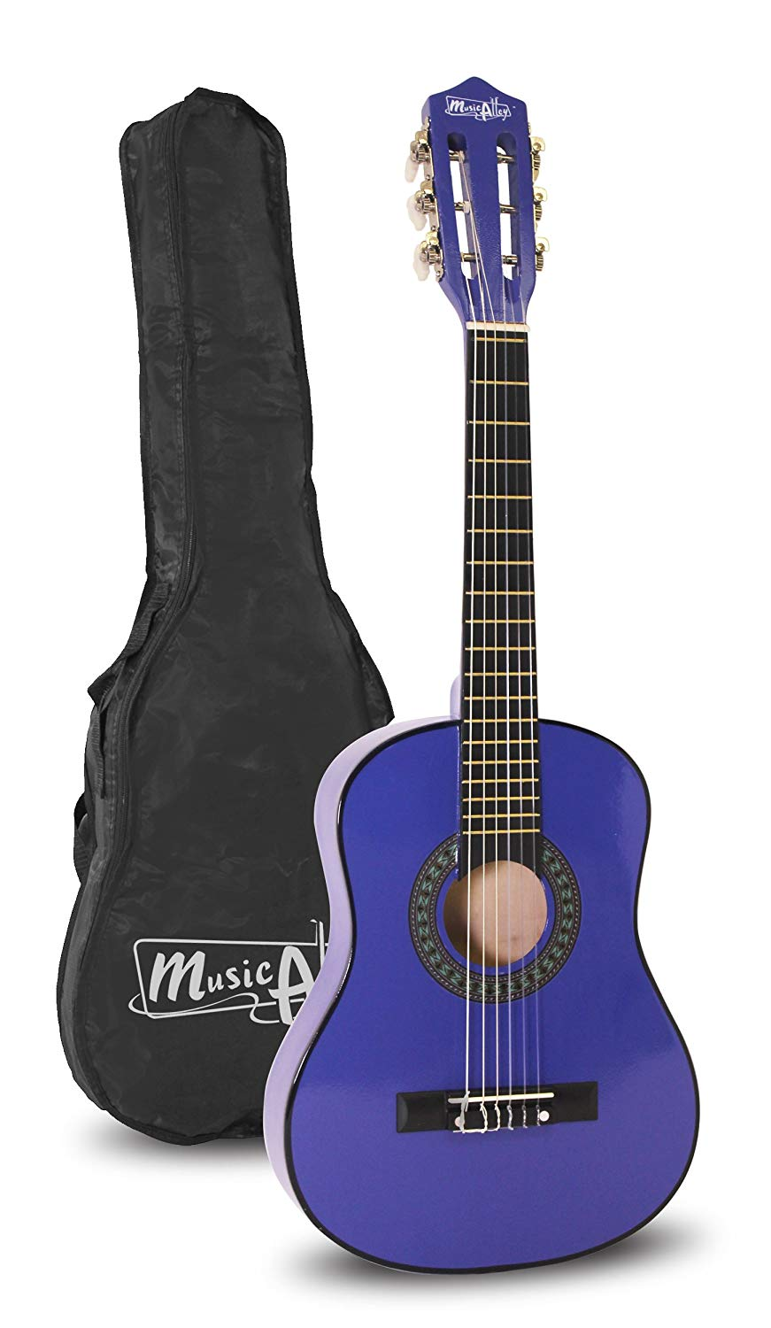 Music Alley 6 String 30 inch Half Size Junior Guitar for Young Kids