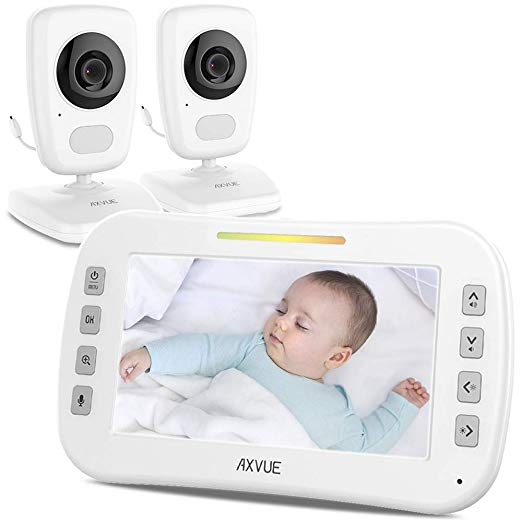 """AXVUE E632 Video Baby Monitor with Two Cameras and 5"""" LCD"""