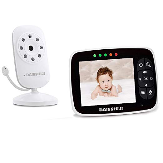 """Baby Monitor, Video Baby Monitor 3.5"""" Large LCD Screen"""