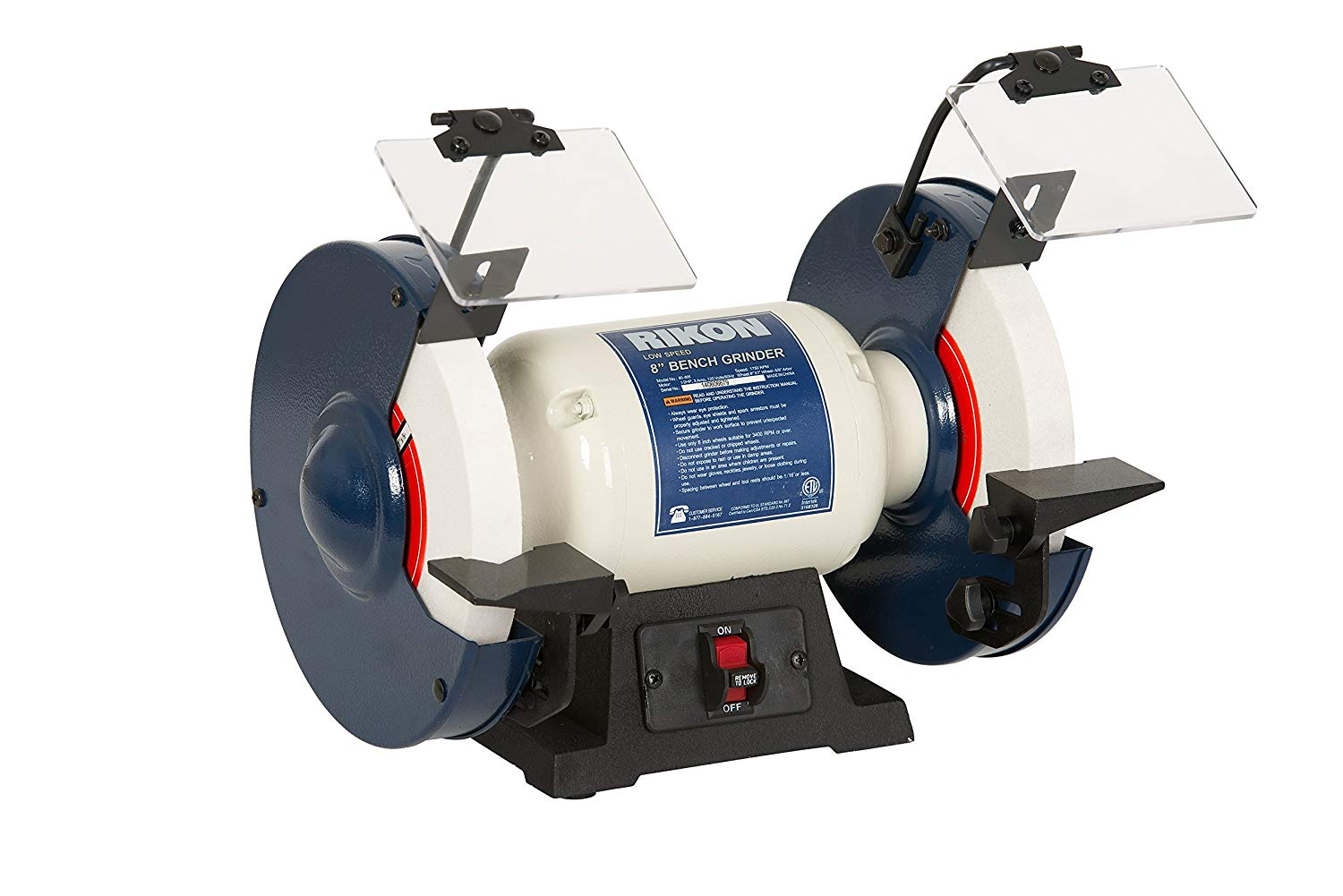 Rikon Professional Power Tools, Slow Speed Bench Grinder - Bench Grinders