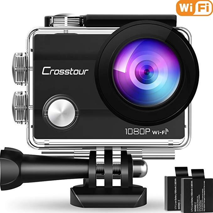 Crosstour Action Camera Underwater Cam - Action Cameras