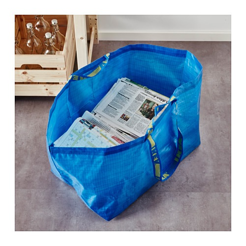 Ikea 172.283.40 Frakta Shopping Bag, Large, Blue