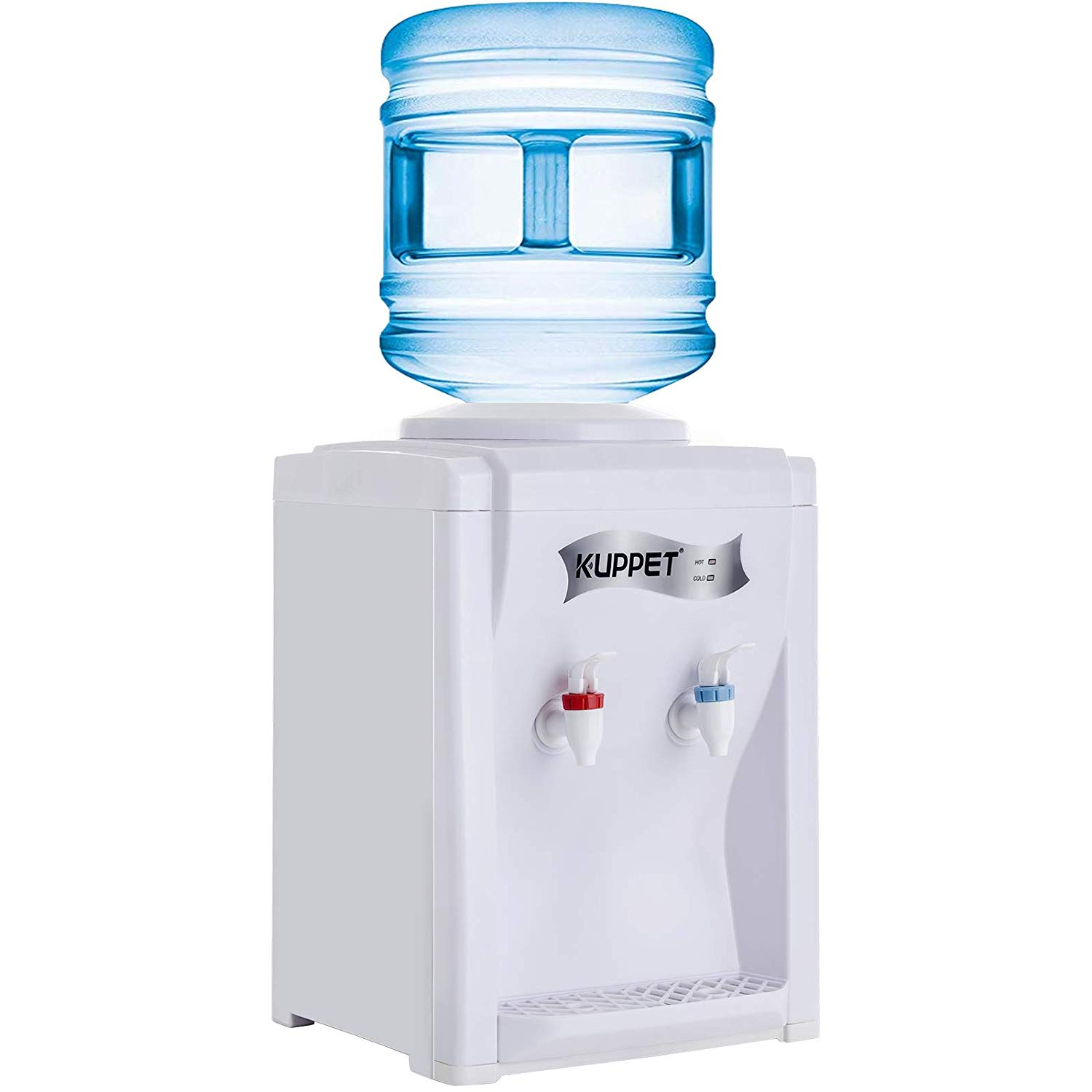 Kuppet 3-5 Gallon Countertop Water Cooler Dispenser Hot & Cold Water