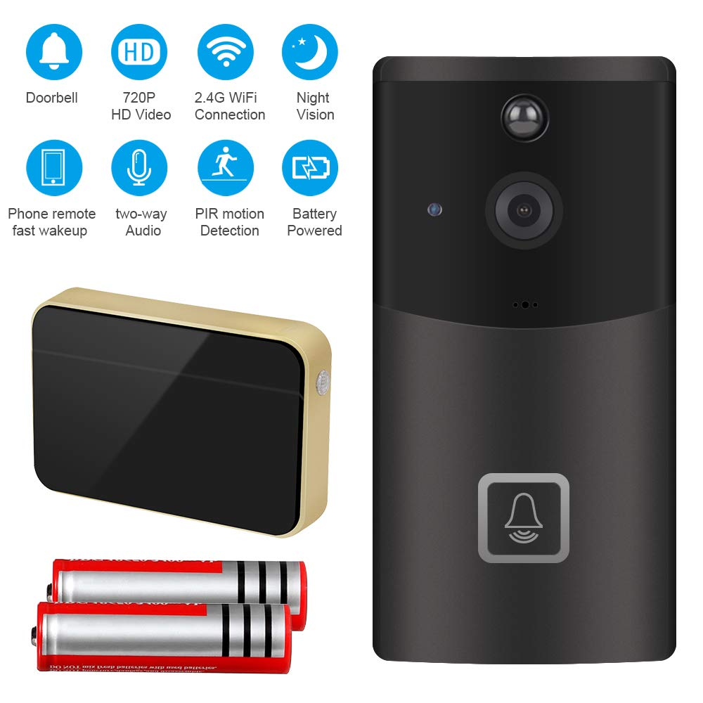 ZhiLiao Smart Home WiFi Video Doorbell Camera - smart doorbell cameras