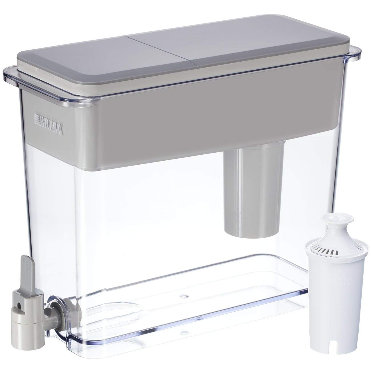 Brita Extra Large 18 Cup Filtered Water Dispenser with 1 Standard Filter BPA Free
