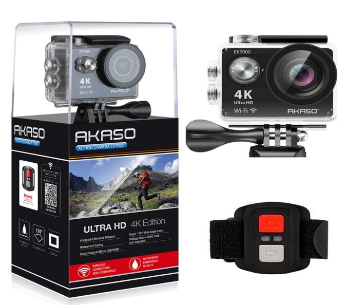 AKASO EK7000 4K WiFi Sports Action Camera - Action Cameras