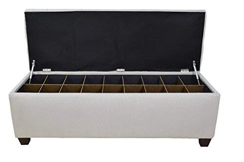 The Sole Secret Button Tufted Ottoman with Shoe Storage