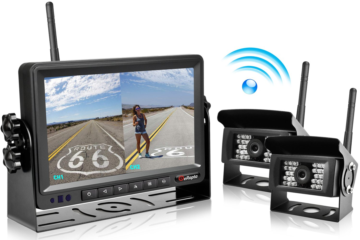 "eRapta Updated Digital Wireless Backup Camera with 7"" Monitor - Best Wireless Backup Cameras"