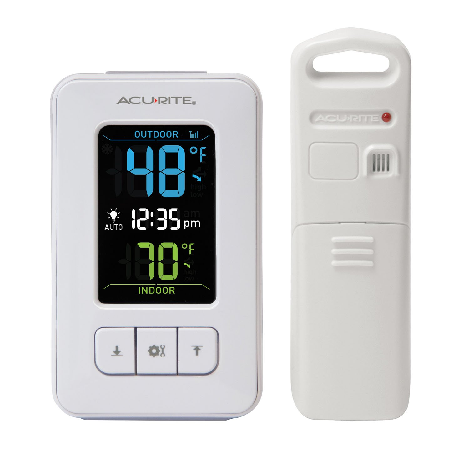AcuRite 02028 Color Digital Thermometer with Indoor/Outdoor Temperature
