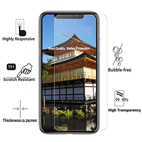 [3-Pack] Screen Protector Compatible for iPhone X/Xs - Screen Protectors for iPhone X