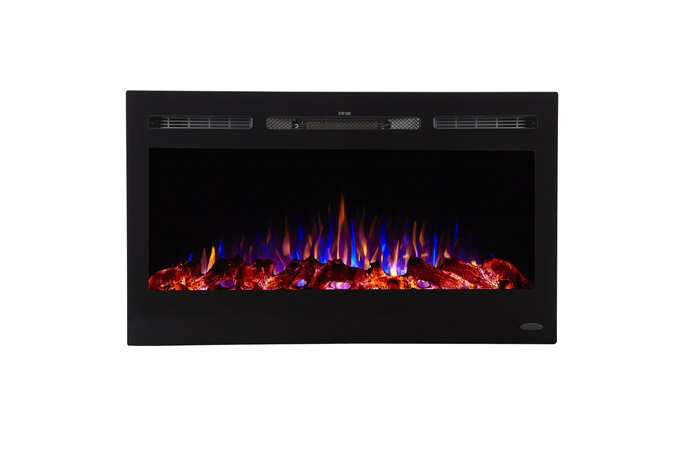Touchstone 80014-Sideline Electric Fireplace-36 inch Wide-in Wall Recessed - Best Electric FirePlaces