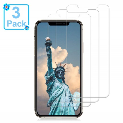 [3 Pack] iPhone Xs/X Glass Screen Protectors Loopilops iPhone Xs/X - Screen Protectors for iPhone X