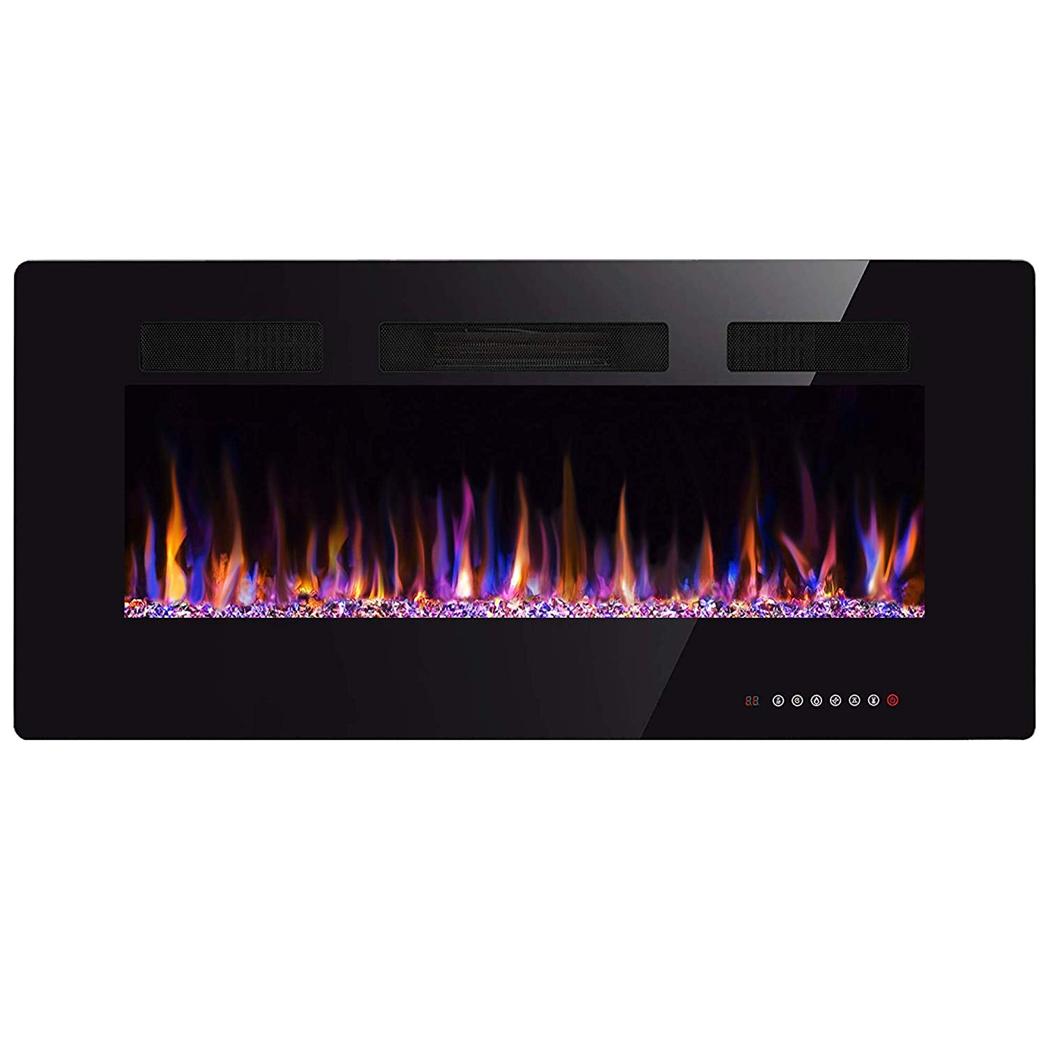 Xbeauty 36 Electric Fireplace in-wall Recessed and Wall Mounted 1500 watts - Best Electric FirePlaces