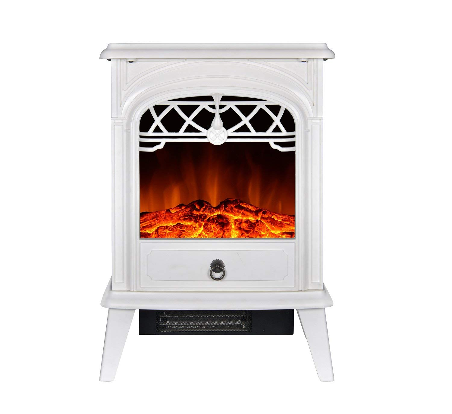 GMHome Free Standing Electric Fireplace Cute Heater Log Fuel Effect Realistic - Best Electric FirePlaces