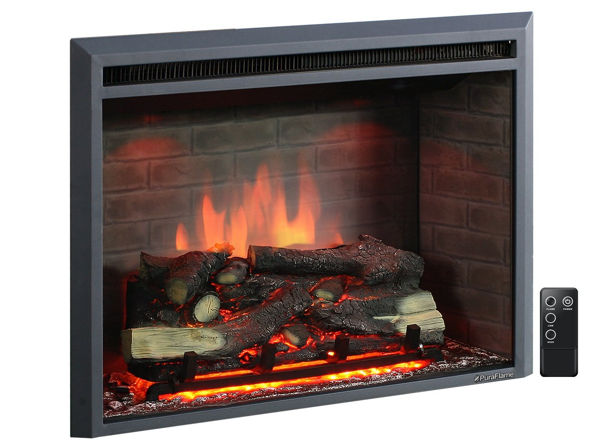 PuraFlame 33 Western Electric Fireplace Insert with Remote Control - Best Electric FirePlaces