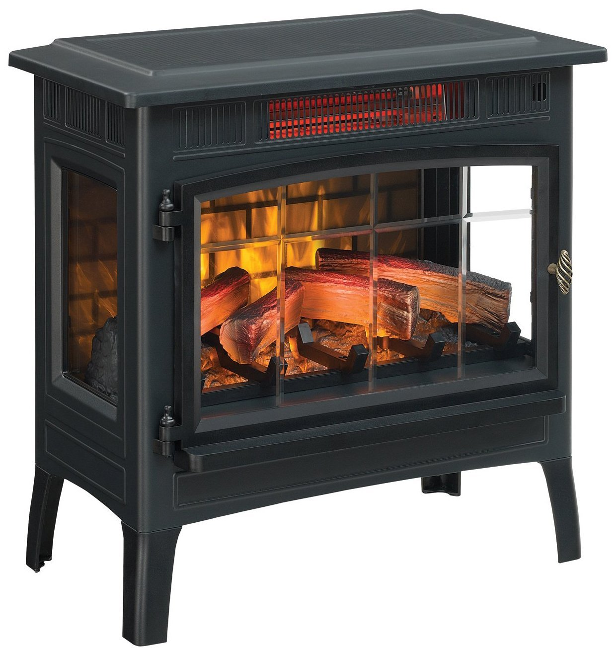 DuraFlame Electric Infrared Quartz Fireplace Stove with 3D Flames Effect Black - Best Electric FirePlaces