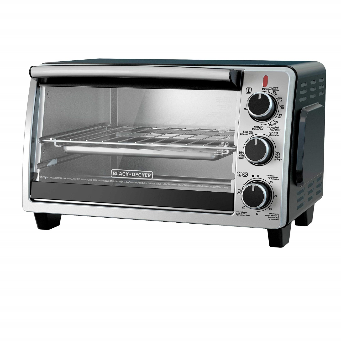 BLACK+DECKER TO1950SBD 6-Slice Convection Countertop Toaster Oven