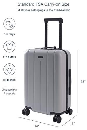 Chester Carry on luggage 22 Inch Lightweight Polycarbonate